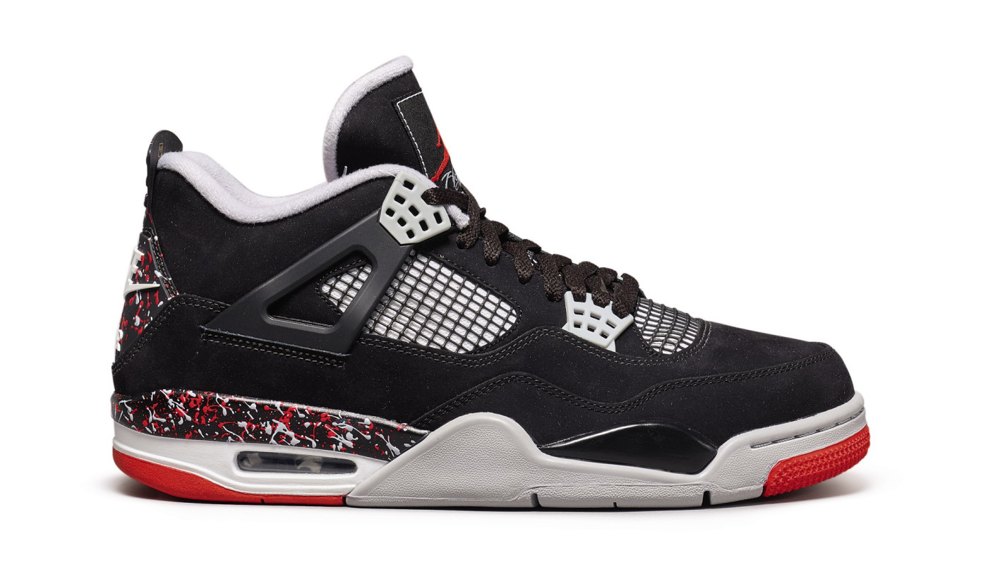 Drake x Air Jordan 4 'Splatter' (Lateral)