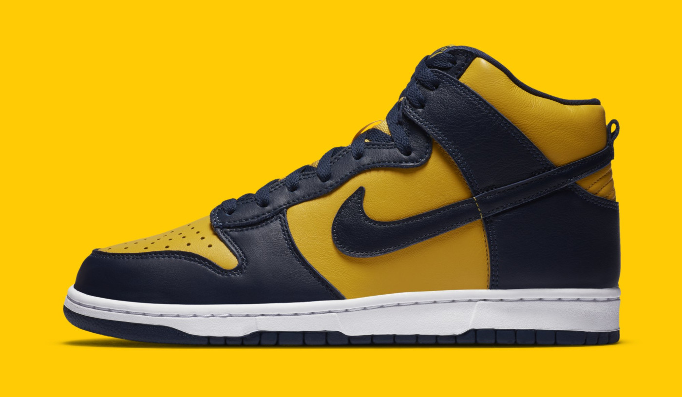 Nike Dunk High SP 'Michigan' CZ8149-700 Lateral