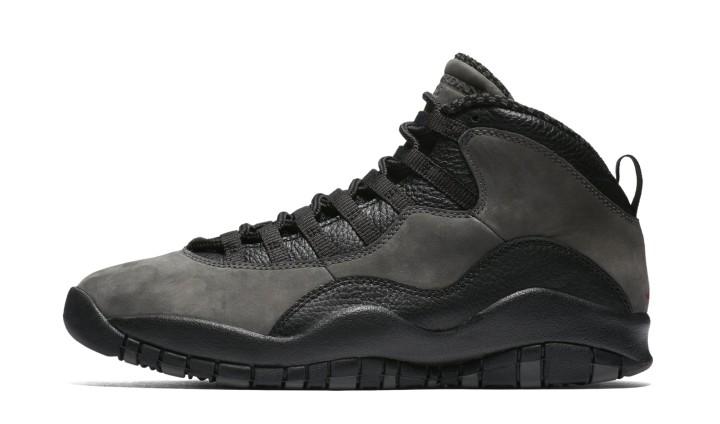 san francisco 7eb4b aed98 Air Jordan 10 Retro  Shadow  310805-002 (Lateral). Image via Nike