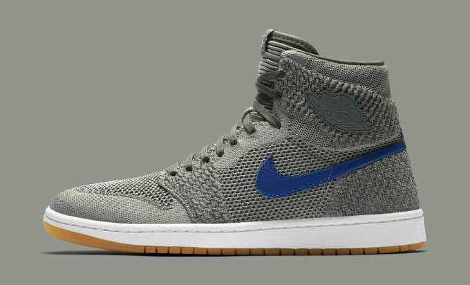 1fc7115676d6 Air Jordan 1 Flyknit  Clay Green  919704-333 (Lateral). Image via Nike