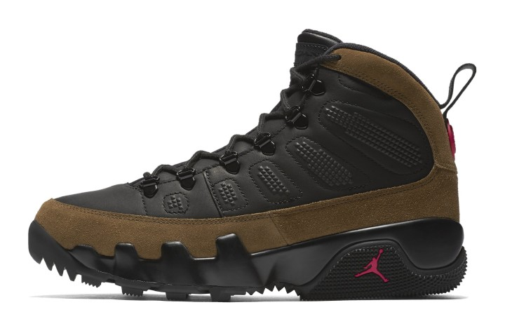 2a554da70d2 Air Jordan 9 NRG Boot 'Olive' AR4491-012 (Lateral). Image via Nike
