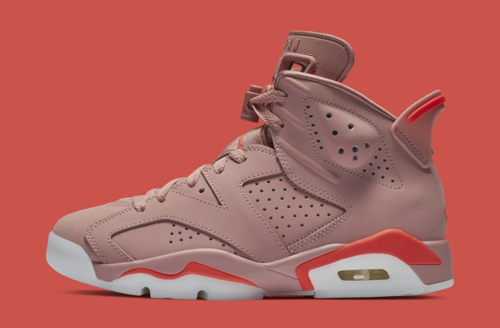4e0b8ba2db8 Aleali May x Air Jordan 6 'Rust Pink/Bright Crimson' CI0550-600