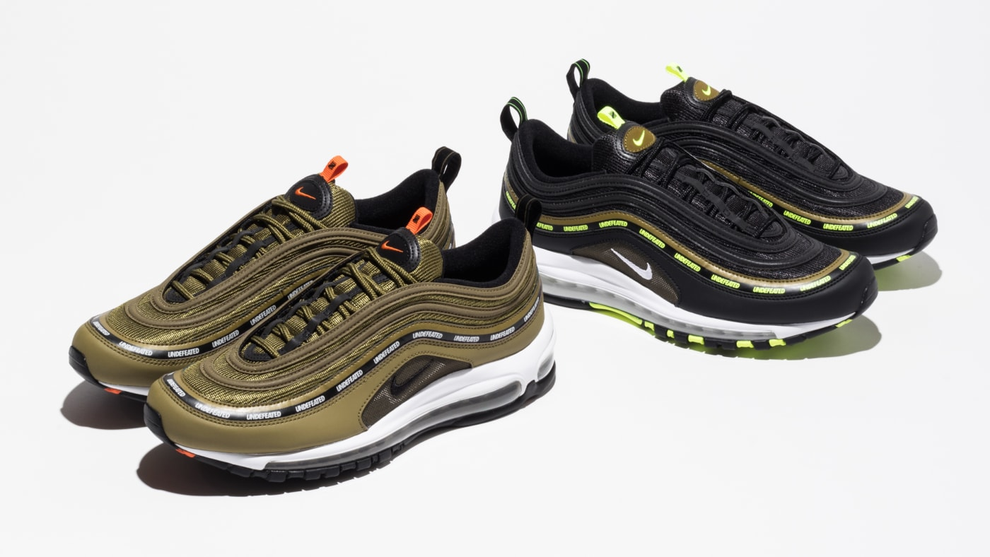 Undefeated Nike Air Max 97s Olive Green Black Neon