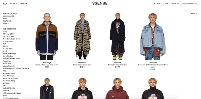 dover street market the 10 best online clothing stores for men