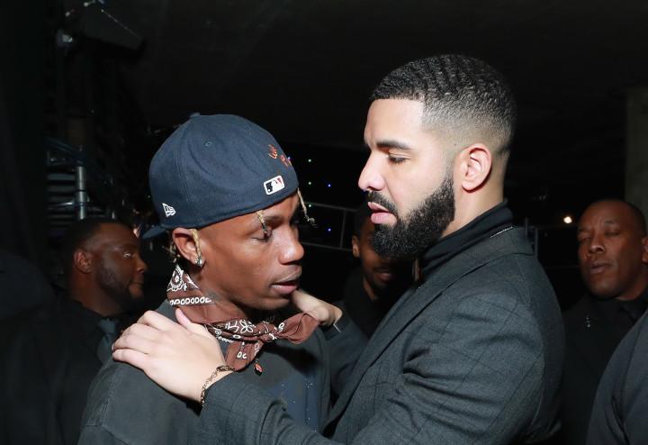 Watch Travis Scott's Reaction to Drake's 'Checks Over