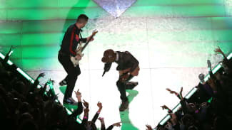 Adam Levine and Travis Scott Super Bowl
