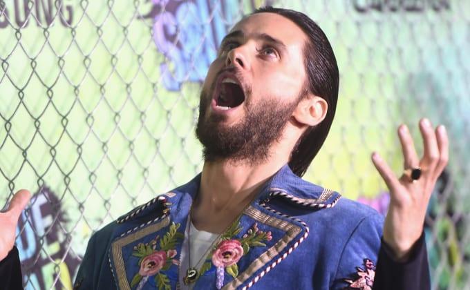 Jared Leto Wearing Gucci at Suicide Squad Premiere