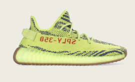Adidas Yeezy Boost 350 V2 'Semi Frozen Yellow' B37572 (Lateral)