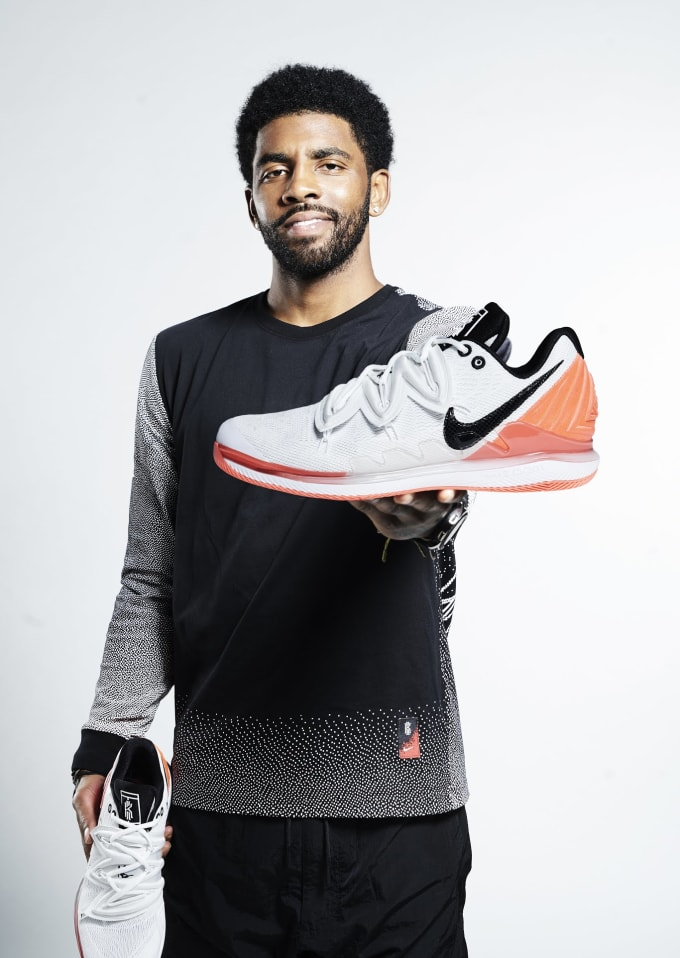 285ac30da3d5 Kyrie Irving with the Nike Air Zoom Vapor X Kyrie 5