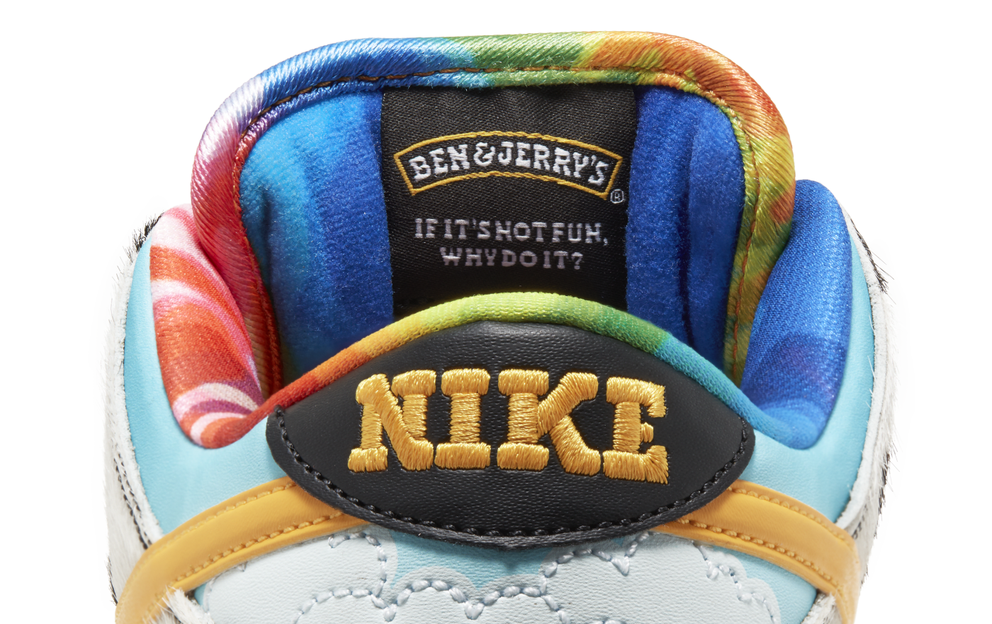 Ben and Jerry's x Nike SB Dunk Low 'Chunky Dunky' CU3244 100 (Heel)