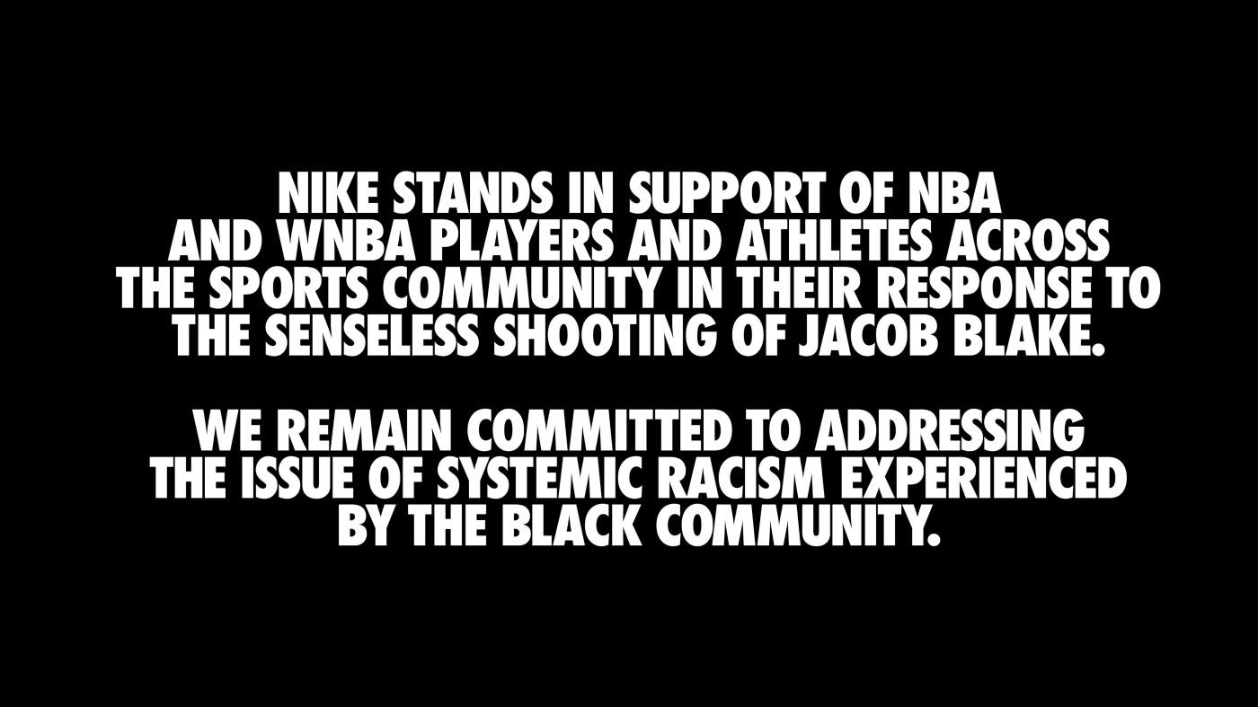 Nike Jacob Blake Shooting Response