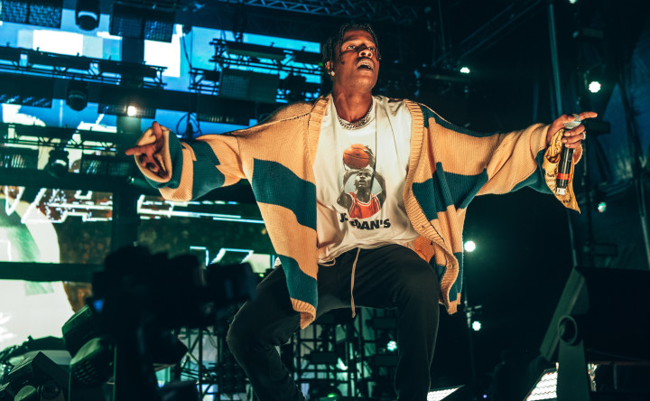 c7ef57f9d ASAP Rocky wear Raf Simons sweater at Parklife Festival 2018.
