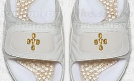 OVO Jordan 12 Slides Top