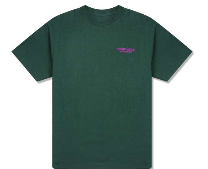 Know Wave TM T-shirt 'Forest Green' 2
