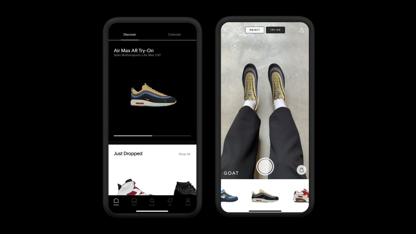 GOAT Nike Air Max Month AR Try On 2021