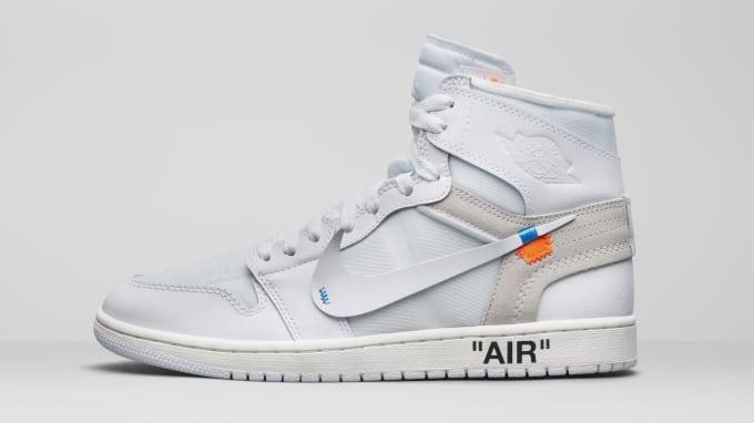 ae88c5438412 Air Jordan 1 x Off-White AQ0818-100 (Lateral). Image via Nike