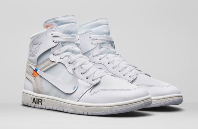 c44c7c9f4c72 Air Jordan 1 x Off-White AQ0818-100 (Pair). Image via Nike. The upcoming  week of ...