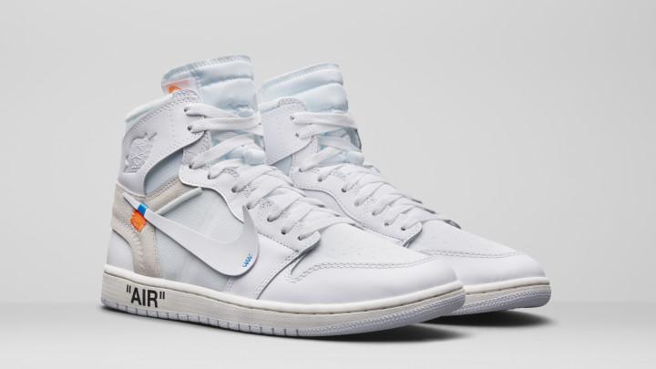 282476b8 Air Jordan 1 x Off-White AQ0818-100 (Pair). Image via Nike