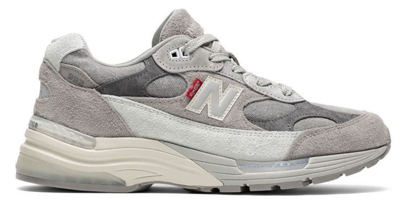 Levi's x New Balance 992 Grey Lateral
