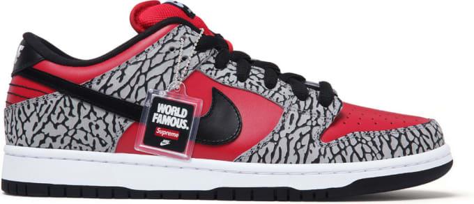 Supreme x Nike SB Dunk Low (Red)