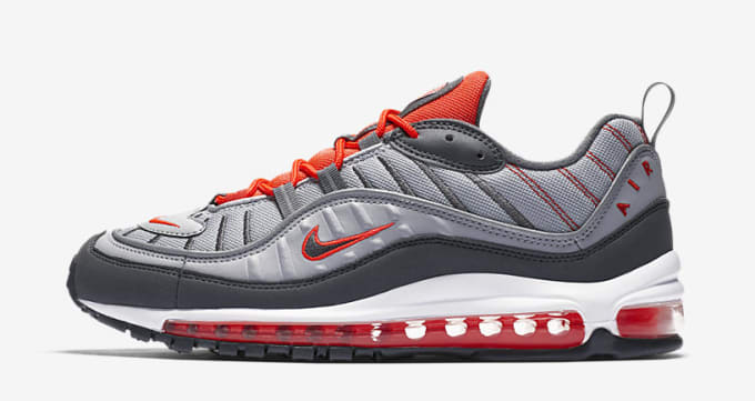 newest 12f7a b189e Nike Air Max 98 Total Crimson