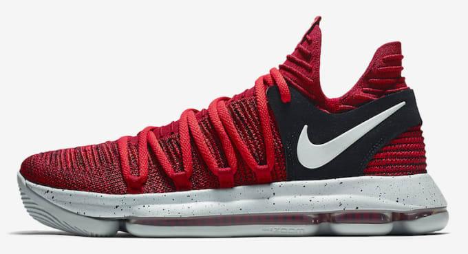 a2541de79c2 Nike KD 10 University Red Black Release Date Profile 897816-600