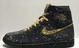 Crystal Black Gold Air Jordan 1 Daniel Jacob Art