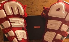 Supreme x Nike Air More Uptempo Red/White