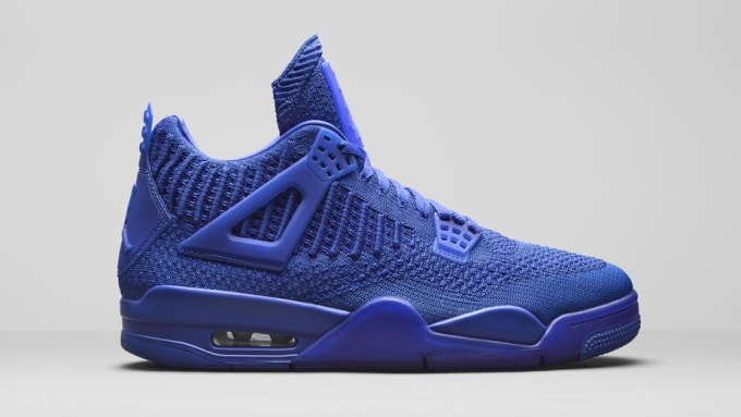 premium selection 5a3be b9c08 Air Jordan 4 Retro Flyknit Blue AQ3559-400 Lateral