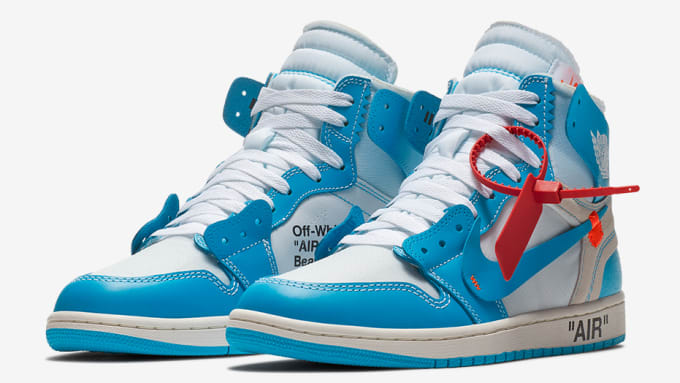 4569c3c4f86bb Off-White x Air Jordan 1 UNC Release Date AQ0818-148 Main
