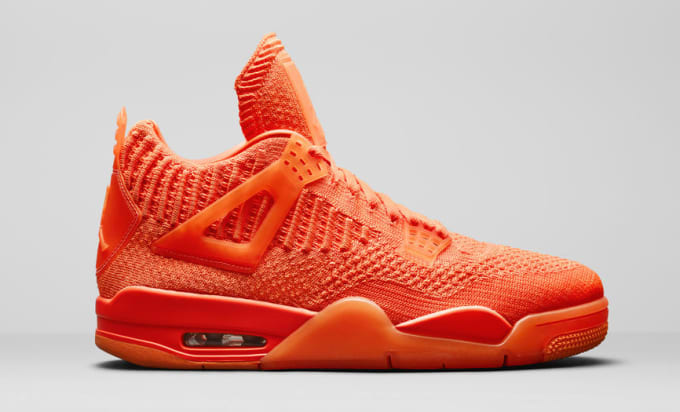 5cceeb6605d Air Jordan 4 Retro Flyknit Orange AQ3559-800 Lateral