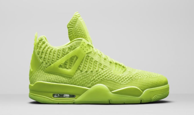 finest selection 8848e 97dcb Air Jordan 4 Retro Flyknit Neon AQ3559-700 Lateral. Image via Nike News