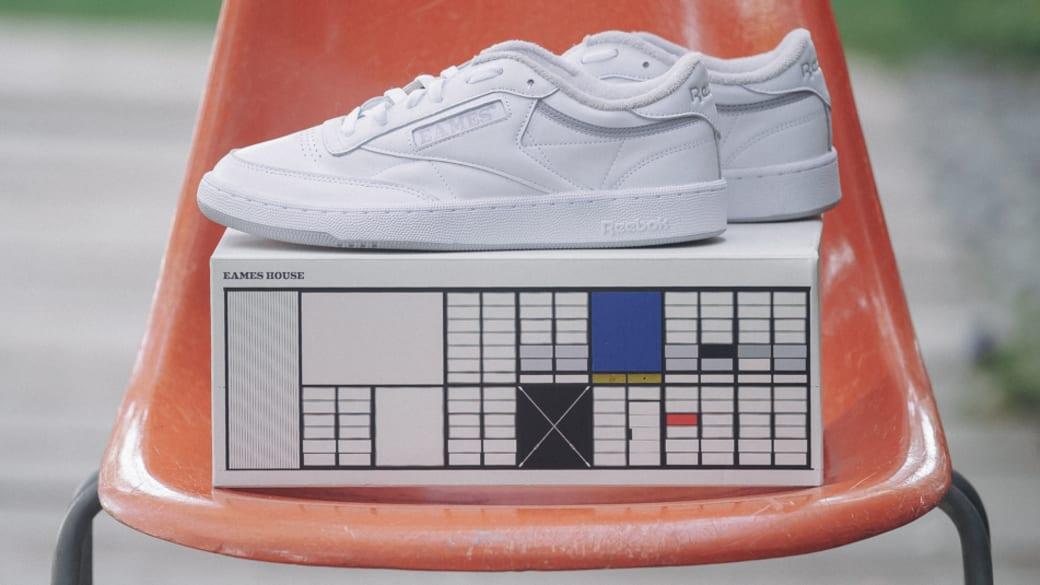 White Eames x Reebok Club C collaboration sneaker