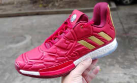 new arrival 18599 c3b77 First Look at the Iron Man Adidas Harden Vol. 3