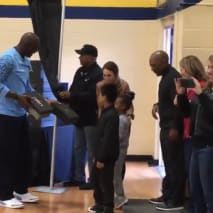 Michael Jordan at the Wilmington Boys and Girls Club