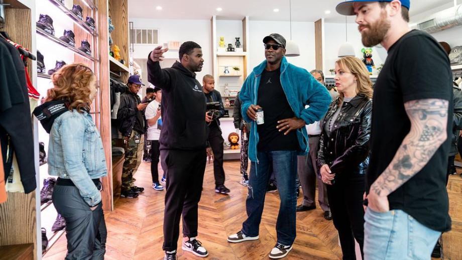 Michael Jordan Travis Scott x Air Jordan 1 Outfit