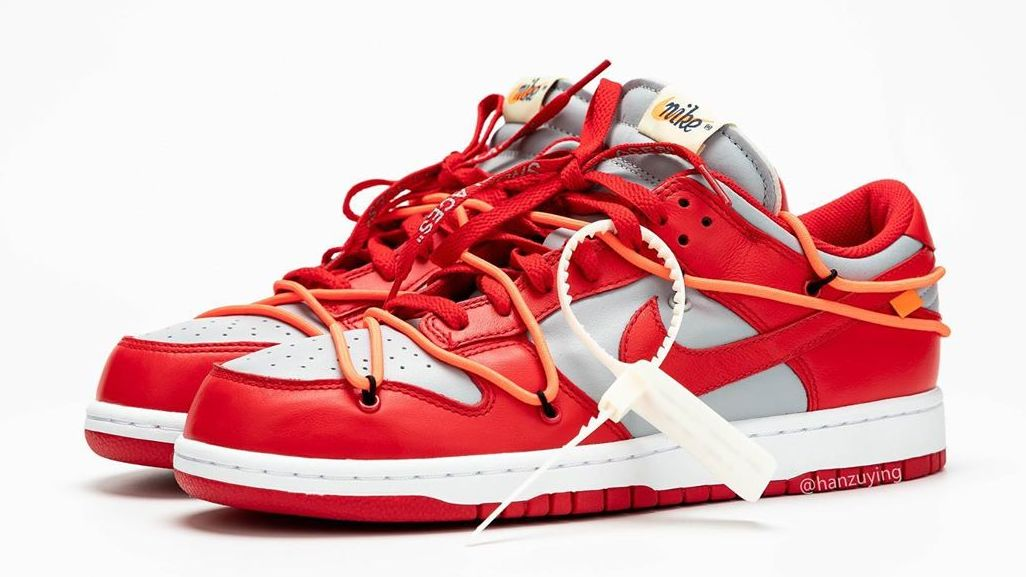 Best Look Yet at the 'University Red' Off-White x Nike Dunks