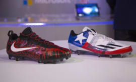 Malcolm Butler & Devonta Freeman Custom Super Bowl Cleats (2)