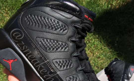 Air Jordan 9 Black Anthracite Red 2018 Release Date 302370-014
