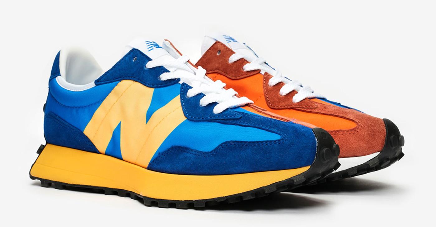 New Balance 327 Blue/Orange
