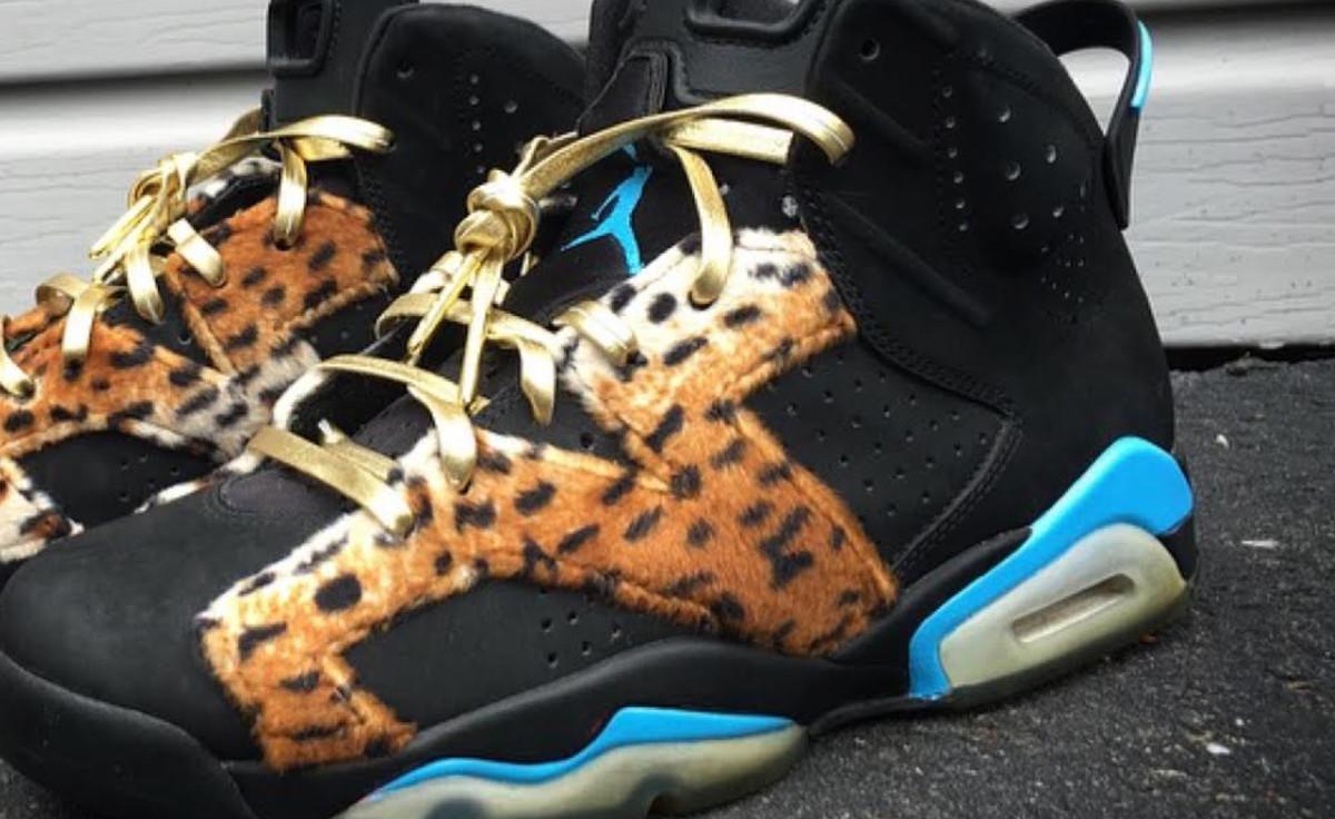 f0dac8992c9 Enzo Amore Air JorEnzo Amore Air Jordan 6 Cheetah Custom by Mache | Complex