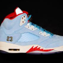 606333a405853a Trophy Room x Air Jordan 5  Ice Blue  ...