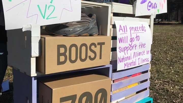 Kanye West and Adidas stock Yeezy Boost 700 V2s at homemade