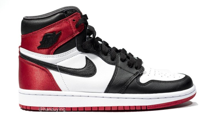 Air Jordan 1 Satin Women's 'Black Toe' Lateral