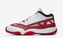 "Air Jordan 11 Low IE ""White/Gym Red"""