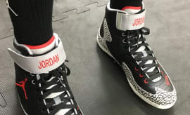 Andre Ward Air Jordan 3 Black Cement Boxing Boots