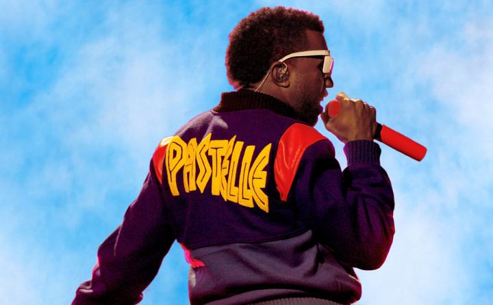 Kanye West wearing Pastelle varsity jacket