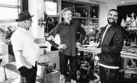 Drake, Tinker Hatfield & Mark Parker