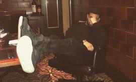 Drake Kaws Air Jordan 4 Black