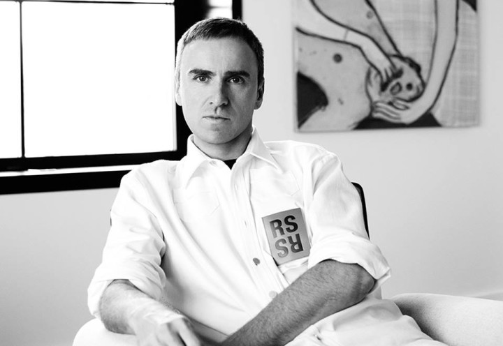The first press image of Raf Simons as creative head of Calvin Klein